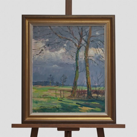 Paul-Ernst Wilke - Worpswede 1968 - Ölgemälde - Galerie Teyssen - Bremerhaven