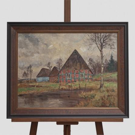 Paul-Ernst Wilke - Worpswede Vorfrühling 1945 - Ölgemälde - Galerie Teyssen - Bremerhaven
