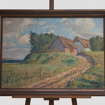 Paul-Ernst Wilke -Fischerhäuser auf Rügen 1943 - Ölgemälde - Galerie Teyssen - Bremerhaven