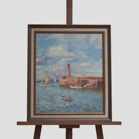 Klaus Bemmer - Mole Bremerhaven - Ölgemälde - Galerie Teyssen - Bremerhaven