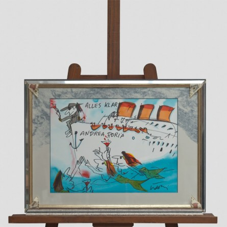 Udo Lindenberg - Alles Klar! Andrea Doria - Likörell - Galerie Teyssen - Bremerhaven