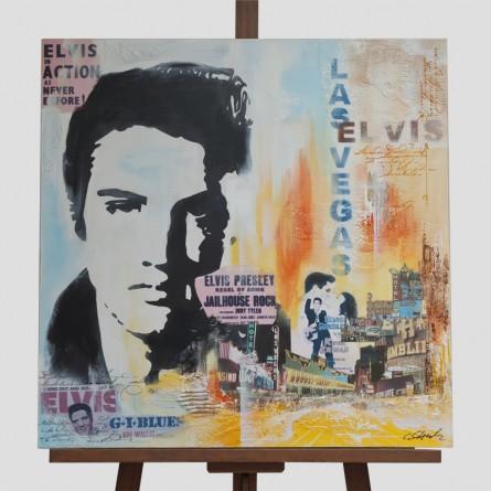 Claus Schenk - Elvis Presley Collage - Galerie Teyssen - Bremerhaven