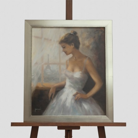 Christian Jereczek – Ballerina in Paris– Ölgemälde auf Leinwand - Galerie Teyssen in Bremerhaven
