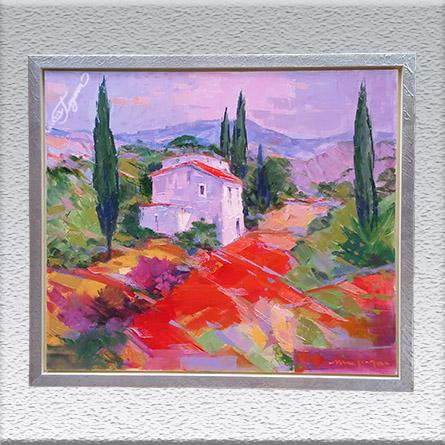 H. J. Menzinger:Toscana Ölgemälde, gerahmt, 67 cm x 77 cm, 980,- €