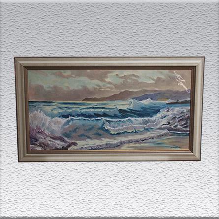 Heinz Kollecker Ölgemälde, gerahmt, 62 cm x 112 cm, 980,- €