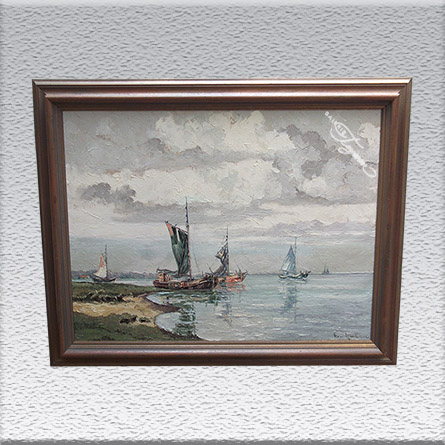 Hans Hentschke Ölgemälde, gerahmt, 74 cm x 94 cm, 920,- €