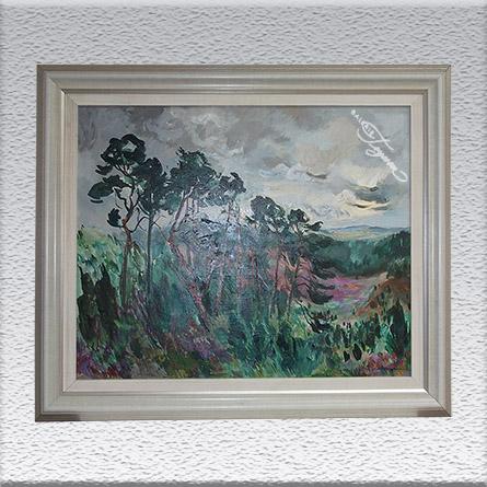 Georg Hillmann Ölgemälde, gerahmt, 77 cm x 92 cm, 1450,- €