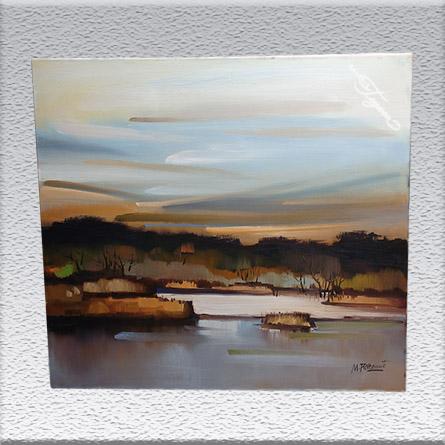 Max Rothemund: Landschaft Ölgemälde, ungerahmt, 80 cm x 90 cm, 1150,- €