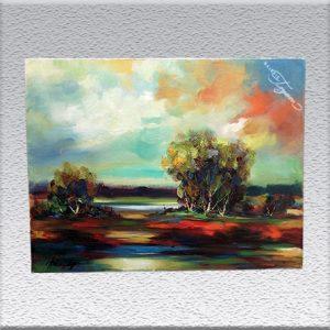 Heinz Hohendorff: Farbige Landschaft Ölgemälde, ungerahmt, 60 cm x 80 cm, 840,- €