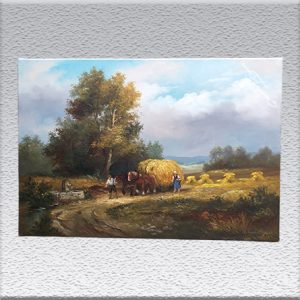 Elisabeth Pätz-Kalich: bei der Kornernte Ölgemälde, ungerahmt, 60 cm x 90 cm, 590,- €