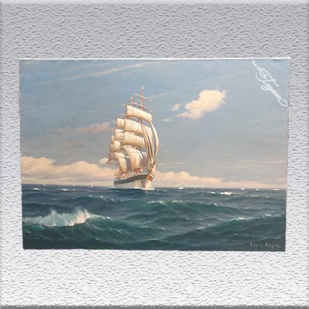 "M. F. Fräncis Glüsing: ""Im Passat"" Ölgemälde, ungerahmt, 70 cm x 100 cm, 1750,- €"