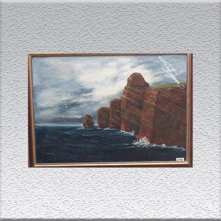 Fritz Hartmann: Helgoland (1919) Ölgemälde, gerahmt, 87 cm x 116 cm, 2350,- €