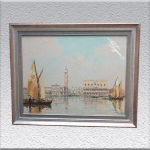 Roberto Iras Baldessari: Venedig Ölgemälde, gerahmt, 77 cm x 97 cm, 2000,- €