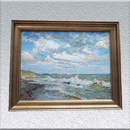Hermann Drechsler (HB): Ostsee bei Kellenhusen (1924) Ölgemälde, gerahmt, 52 cm x 66 cm, Angebot 390,- €