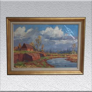 "Paul Ernst Wilke (1967) ""Verlüssmoor"", Ölgemälde , gerahmt, 78 x 108 cm, 2250,- €"