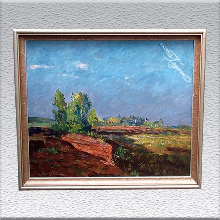 Paul Ernst Wilke: Torfstich (um 1950) Ölgemälde, altgerahmt, 55 cm x 65 cm 1440,- €