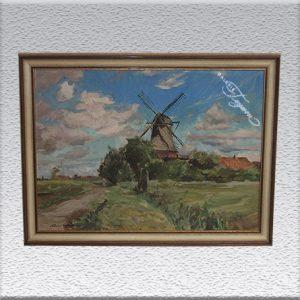Klaus Bemmer: Mühle Ölgemälde, gerahmt, 61 cm x 81 cm, 690,- €