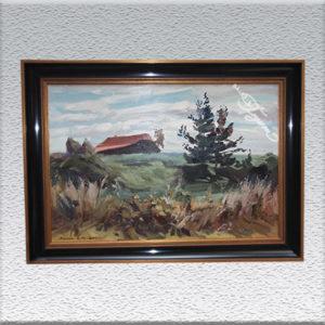 Klaus Bemmer: Landschaft mit Haus Ölgemälde, gerahmt, 50 x 70 cm 690,- €