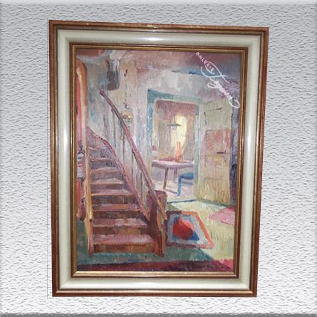 Klaus Bemmer: Im eigenen Haus Ölgemälde, gerahmt, 82 x 62 cm 820,- €