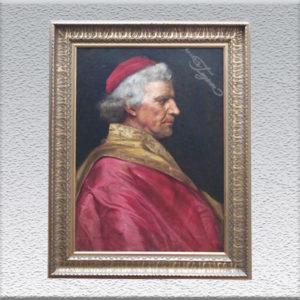 G. Macerini: Kardinal Ölgemälde, gerahmt, 74 x 56 cm 1450,- €
