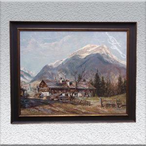 Luis Wöhner / Berg Daniel (bei Ehrwald – Tirol) Ölgemälde, gerahmt, 78 x 93 cm 2500,- €