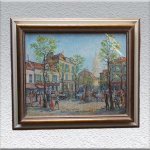 Jakob Fischer-Rhein / Paris Plaza de Tertre, Ölgemälde, gerahmt, 54 x 64 cm 990,- €